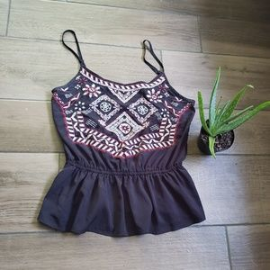 Abercrombie and Fitch embroidered boho tank top S